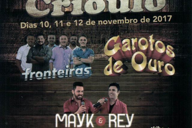 Rodeio Crioulo Rancho Queimado dias 10, 11 e 12 de Novembro