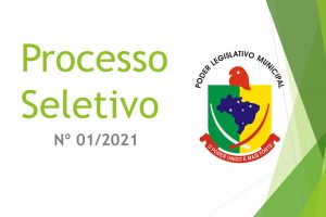 PROCESSO SELETIVO Nº 01-2021